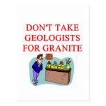 chiste del geólogo tarjeta postal