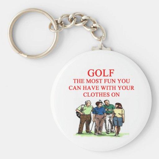 Chiste del golfista del GOLF Llavero Redondo Tipo Pin