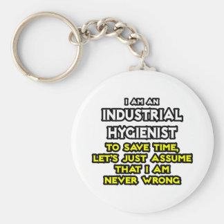 Chiste del higienista industrial. Nunca perjudique Llavero Redondo Tipo Pin