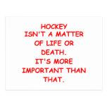 chiste del hockey tarjeta postal