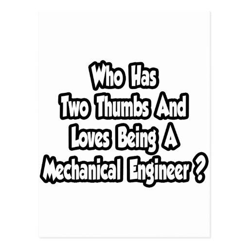 Chiste del ingeniero industrial… dos pulgares tarjeta postal