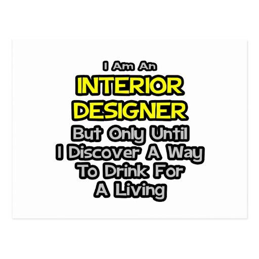 Chiste del interiorista. Bebida para una vida Tarjetas Postales