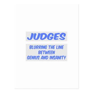 Chiste del juez. Genio y locura Postal