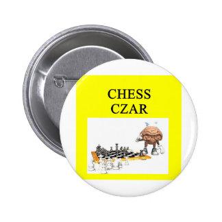 Chiste del jugador de AJEDREZ Pin Redondo 5 Cm