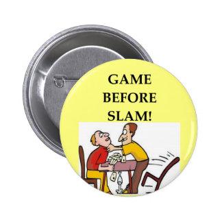 chiste del jugador de puente pin redondo de 2 pulgadas