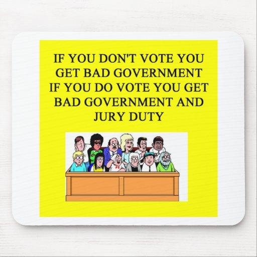 chiste del labor del jurado del gobierno tapete de ratón