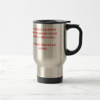 chiste del marido taza de viaje de acero inoxidable