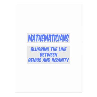 Chiste del matemático. Genio y locura Postales