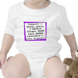 chiste del mySql - informático divertido - púrpura Trajes De Bebé