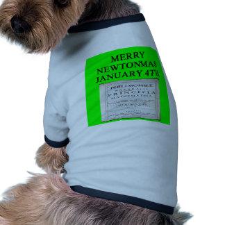 chiste del navidad de Isaac Newton Camiseta De Mascota