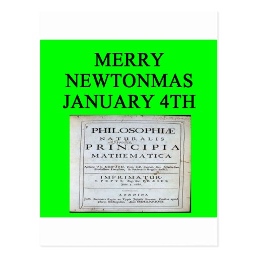 chiste del navidad de Isaac Newton Tarjetas Postales