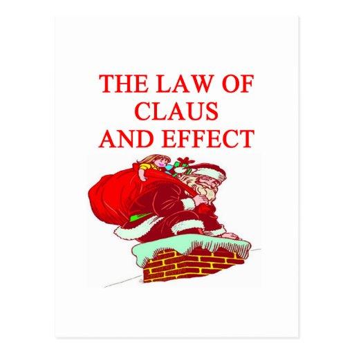Chiste del navidad de Papá Noel Tarjeta Postal