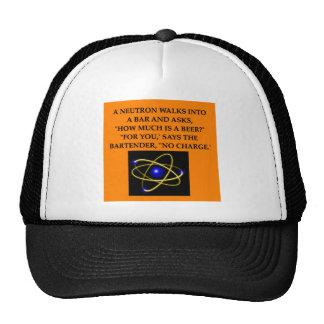 chiste del neutrón gorras