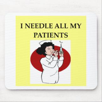 chiste del oficio de enfermera de la enfermera alfombrillas de ratón