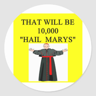 chiste del onfession del catholi de Maria del salu Etiquetas Redondas