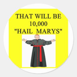chiste del onfession del catholi de Maria del salu Pegatina