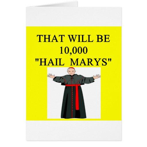 chiste del onfession del catholi de Maria del salu Tarjetón