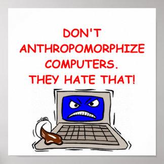 chiste del ordenador póster