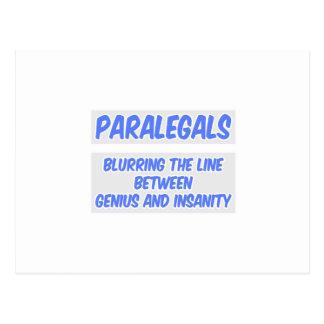 Chiste del Paralegal. Genio y locura Postales