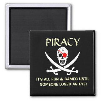 Chiste del pirata imán cuadrado