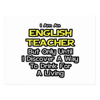 Chiste del profesor de inglés. Bebida para una Tarjeta Postal