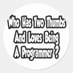Chiste del programador… dos pulgares pegatina