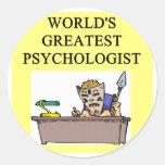 chiste del psicólogo de la psicología pegatina redonda