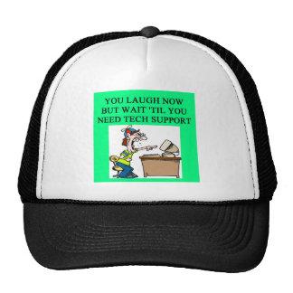 chiste del soporte técnico gorras