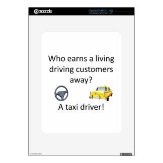 Chiste del taxi calcomanías para iPad