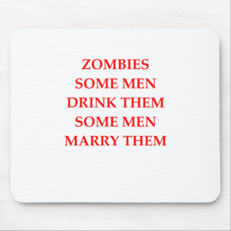 chiste del zombi mousepad