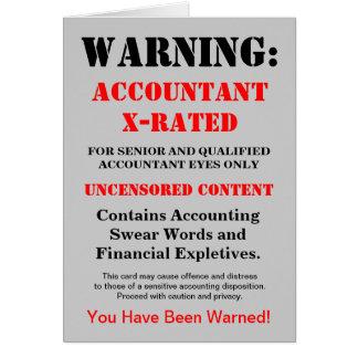 """Chiste divertido clasificado """"x"""" del contable - tarjeta de felicitación"""