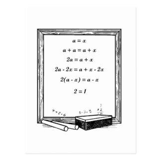 chiste divertido de la álgebra postales