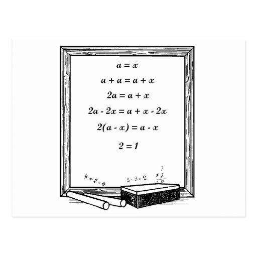 chiste divertido de la álgebra tarjeta postal
