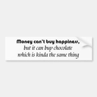 Chiste divertido de la felicidad de la compra del  pegatina de parachoque