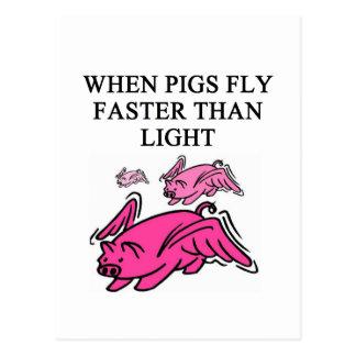 chiste divertido de la física postal