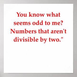 chiste divertido de la matemáticas impresiones