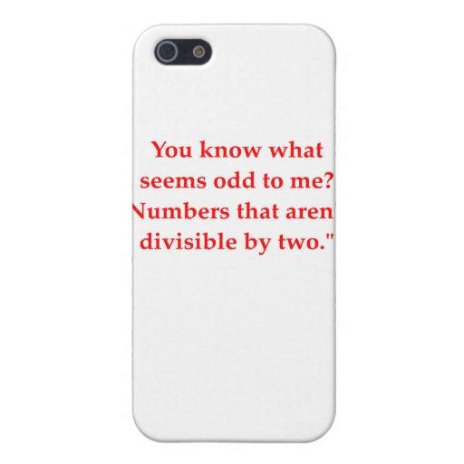 chiste divertido de la matemáticas iPhone 5 funda