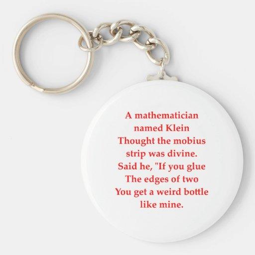 chiste divertido de la matemáticas llaveros personalizados