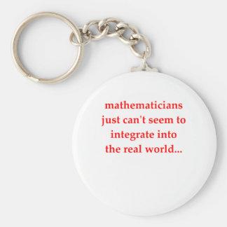 chiste divertido de la matemáticas llavero personalizado
