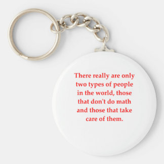 chiste divertido de la matemáticas llavero redondo tipo pin