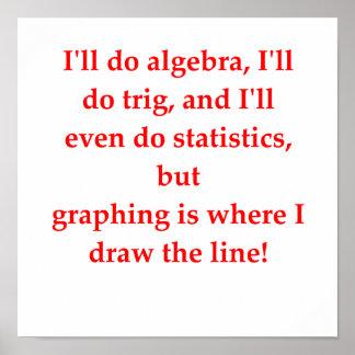 chiste divertido de la matemáticas póster