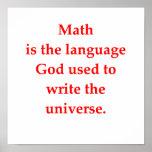 chiste divertido de la matemáticas poster