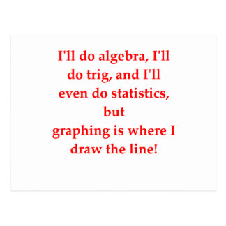 chiste divertido de la matemáticas tarjetas postales