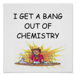 chiste divertido de la química póster