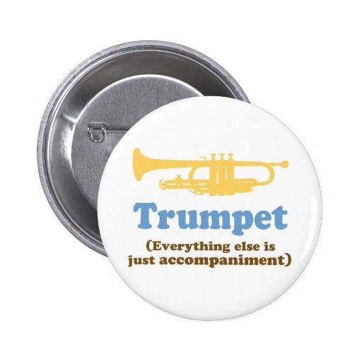 Chiste divertido de la trompeta pin redondo de 2 pulgadas