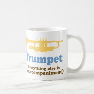 Chiste divertido de la trompeta taza