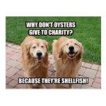 Chiste divertido de risa de los crustáceos del gol postal