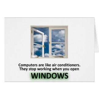 Chiste divertido de Windows - GeekShirts Felicitacion