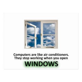 Chiste divertido de Windows - GeekShirts Postal
