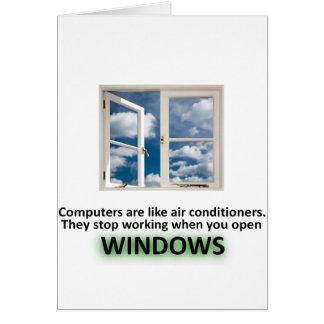 Chiste divertido de Windows - GeekShirts Tarjetas